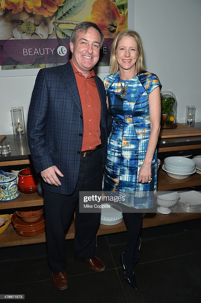 Charlie Kammerer and Kristin van Ogtrop attend Real Simple's Botanical Beauty cocktail party at Andaz 5th Avenue on March 15, 2014 in New York City.