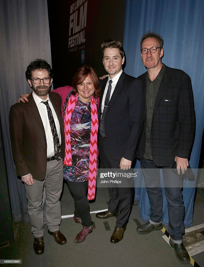 Charlie Kaufman Clare Stewart Duke Johnson and David Thewlis attend the screening of Anomalisa during the BFI London Film Festival at Odeon Leicester...