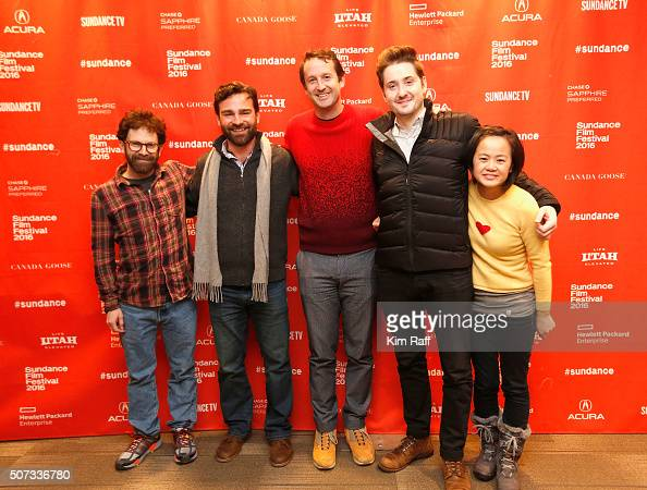 Charlie Kaufman Joe Passarelli Director of Programming Trevor Groth Duke Johnson and Rosa Tran attend Behind The Scenes Of 'Anomalisa' during the...