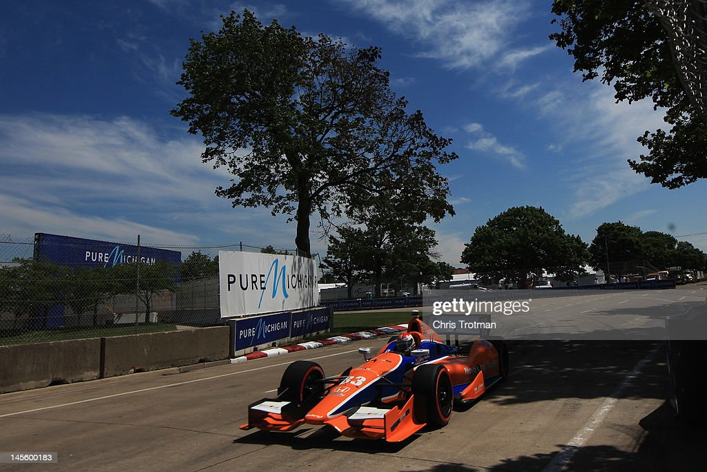 Charlie Kimball, drives the #83 NovoLog FlexPen Dallara Honda during qualifying for the IZOD INDYCAR Series Chevrolet Detroit Belle Isle Grand Prix on Belle Isle on June 2, 2012 in Detroit, Michigan.