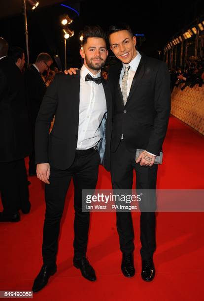 Charlie King and Bobby Norris arriving for the 2013 National Television Awards at the O2 Arena London