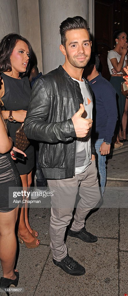Charlie King of the show TOWIE seen outside of Aura on May 2, 2012 in London, England.