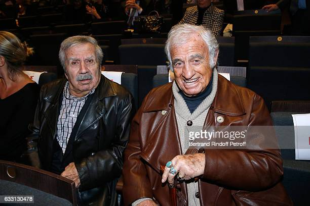 Charlie Koubesserian and JeanPaul Belmondo attend the Charity Gala against Alzheimer's disease at Salle Pleyel on January 30 2017 in Paris France