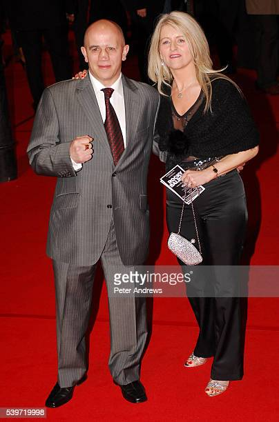 Alan Minter and guest attend the UK Premiere of 'Rocky Balboa' at Vue Leicester Square
