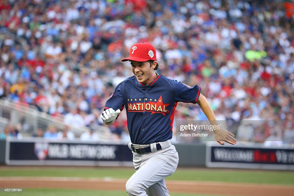 <a gi-track='captionPersonalityLinkClicked' href=/galleries/search?phrase=Charlie+McDermott&family=editorial&specificpeople=4001998 ng-click='$event.stopPropagation()'>Charlie McDermott</a> at the 2014 MLB All-Star legends and celebrity softball game on July 13, 2014 at the Target Field in Minneapolis, Minnesota.