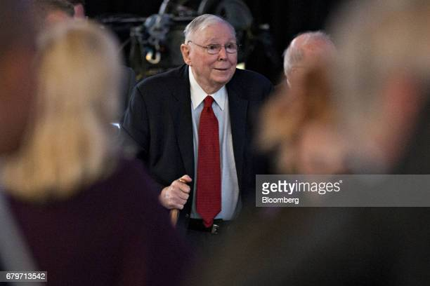 Charlie Munger vice chairman of Berkshire Hathaway Inc arrives for the Berkshire Hathaway annual meeting in Omaha Nebraska US on Saturday May 6 2017...