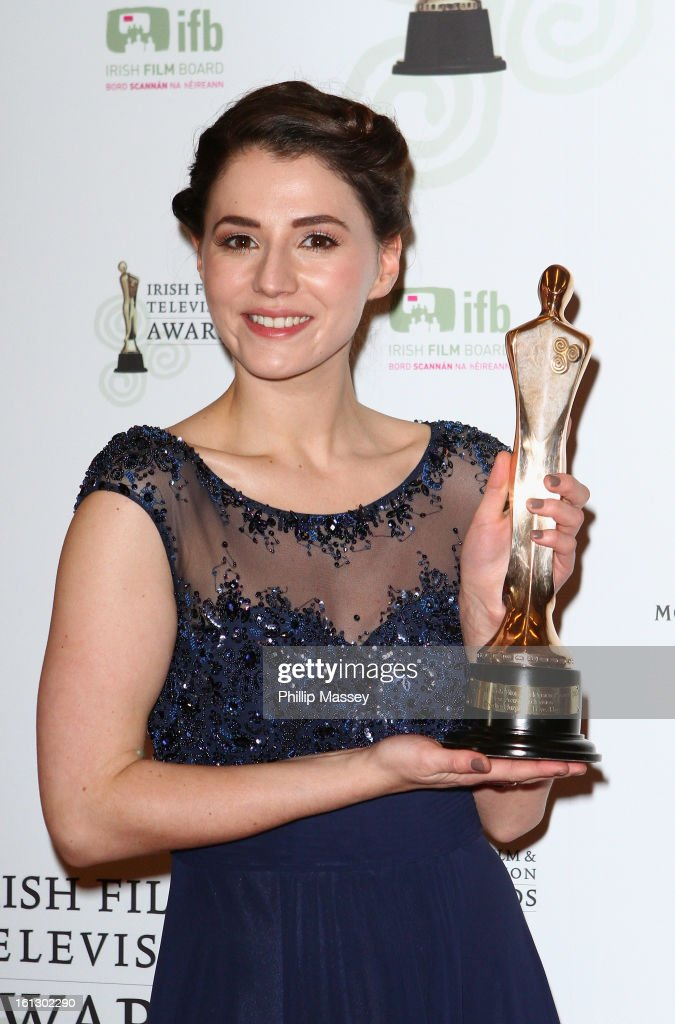 Charlie Murphy poses in the Press Room after receiving the Best TV actress award for her role in 'Love/Hate' at the Irish Film and Television Awards at the Convention Centre Dublin on February 9, 2013 in Dublin, Ireland.