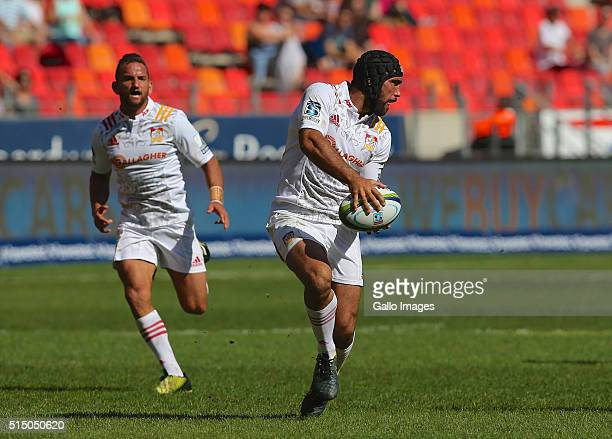 Charlie Ngatai of the Chiefs in action during the 2016 Super Rugby match between Southern Kings and Chiefs at Nelson Mandela Bay Stadium on March 12...
