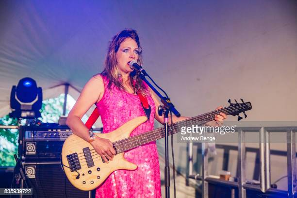 Charlie of Madonnatron performs on the Rising stage during day 4 at Green Man Festival at Brecon Beacons on August 20 2017 in Brecon Wales