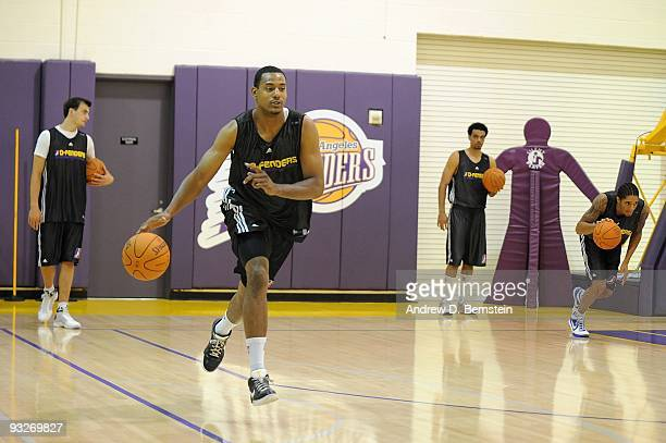 Charlie Parker of the Los Angeles DFenders drives the ball across the court during the frist day of practice on November 13 2009 at Toyota Sports...