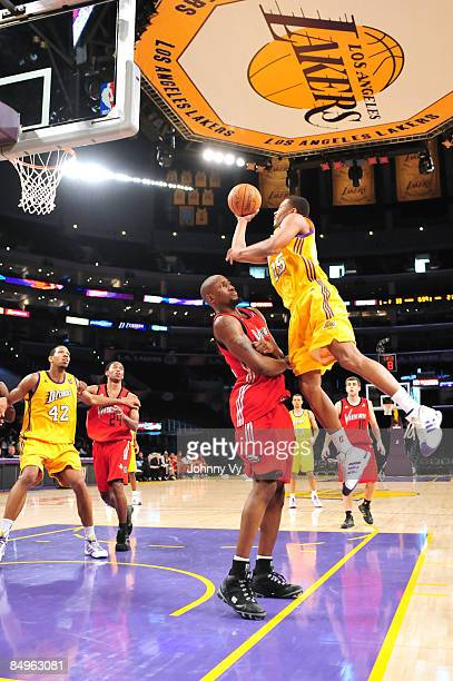 Charlie Parker of the Los Angeles DFenders goes up for a shot during a game against the Rio Grande Valley Vipers at Staples Center on February 20...