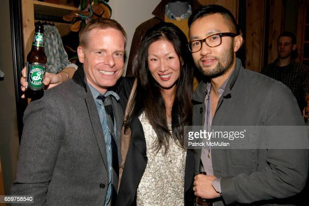 Charlie Phillips Marissa Webb and Somsack Sikhounmuong attend The MONOCLE Holiday Party at the J CREW Men's Shop at The J Crew Men's Shop on November...
