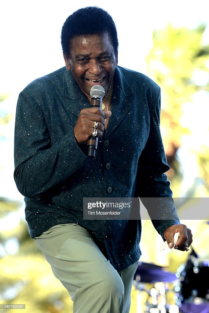 Charlie Pride performs as part of the Stagecoach Music Festival at the Empire Polo Grounds on April 28, 2013 in Indio, California.