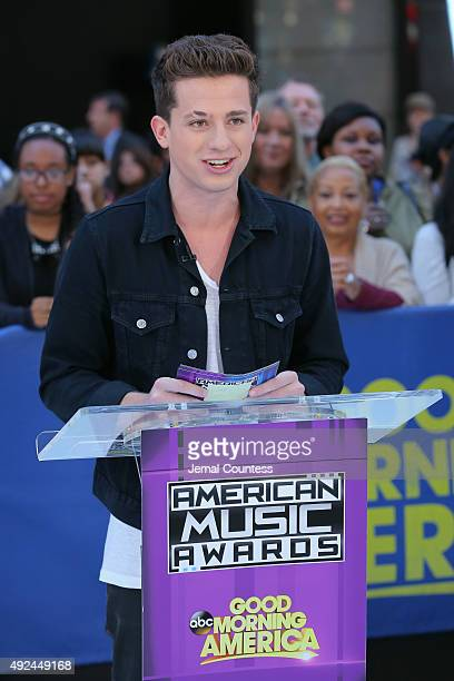 Charlie Puth announces the 2015 American Music Awards nominations at GMA Studios on October 13 2015 in New York City