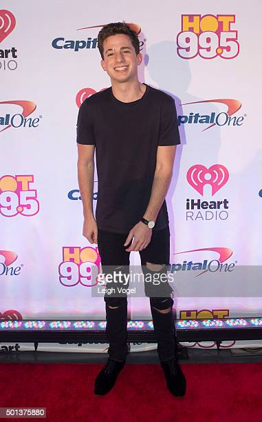 Charlie Puth arrives at 2015 iHeartRadio Jingle Ball at at Verizon Center on December 14 2015 in Washington DC