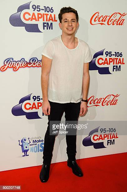 Charlie Puth attends the Jingle Bell Ball at The O2 Arena on December 6 2015 in London England