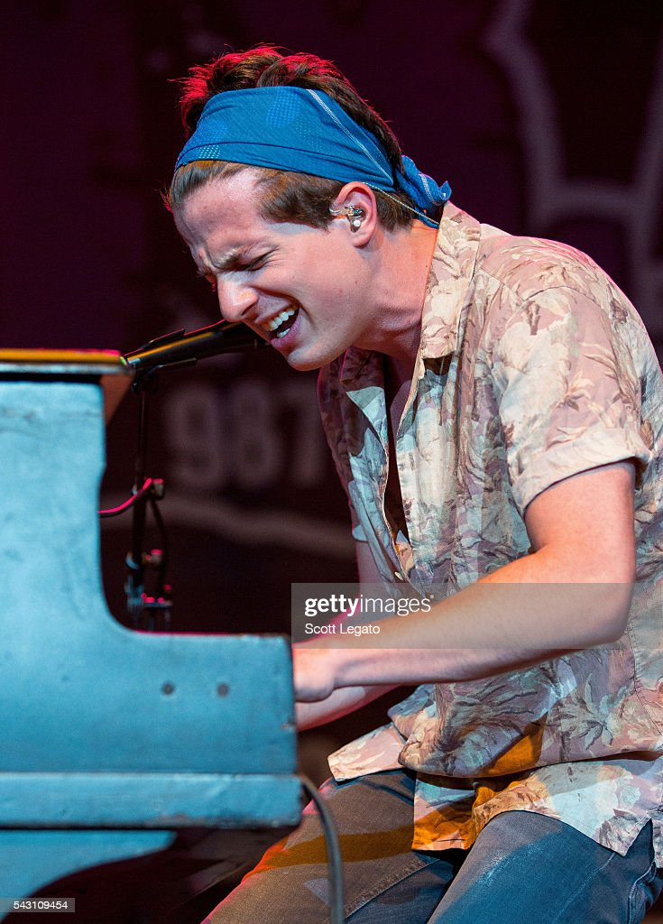 Charlie Puth performs at Freedom Hill Amphitheater on June 24, 2016 in Sterling Heights, Michigan.
