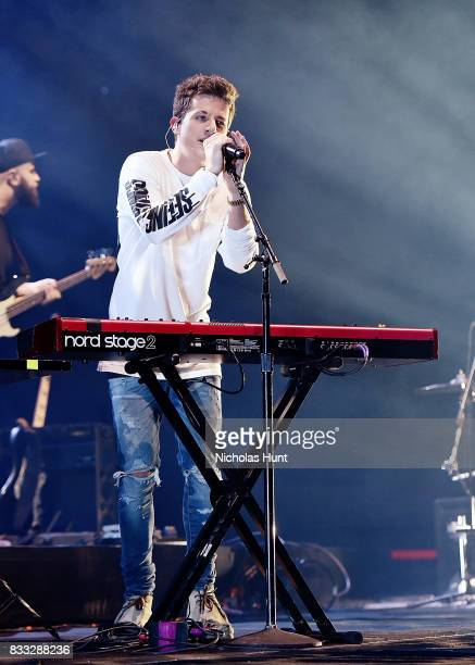 Charlie Puth performs in concert at Barclays Center of Brooklyn on August 16 2017 in the Brooklyn borough of New York City