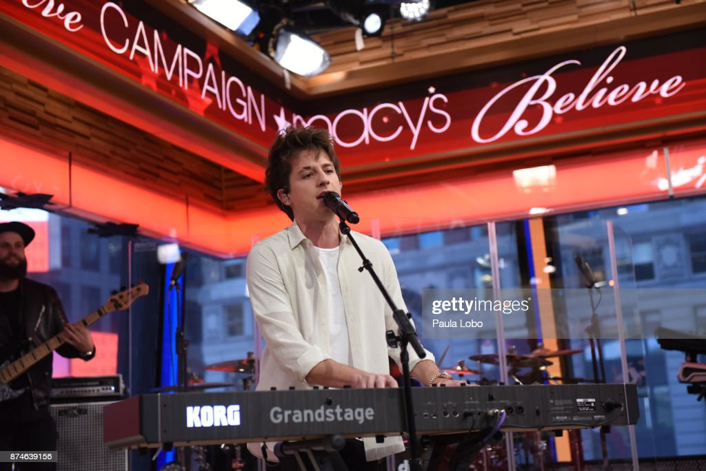 AMERICA - Charlie Puth performs live on 'Good Morning America,' Wednesday, November 15, 2017, airing on the ABC Television Network. CHARLIE