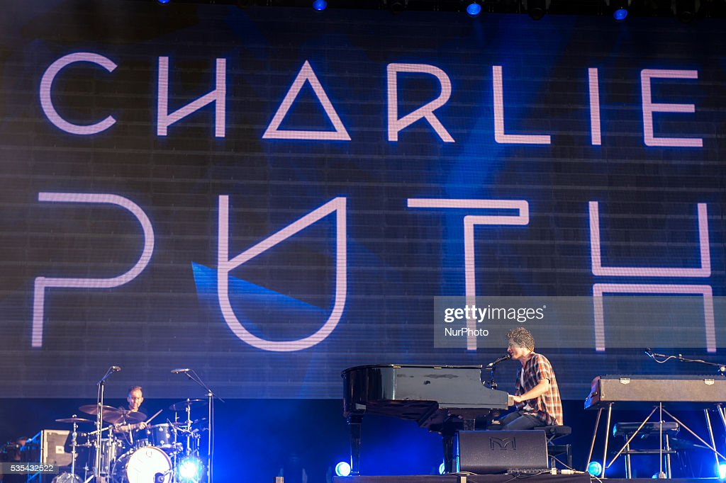 Charlie Puth performs on Mundo stage at Rock in Rio on May 29, 2016 in Lisbon, Portugal.