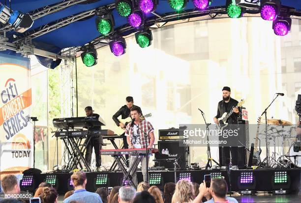 Charlie Puth performs on NBC's 'Today' at Rockefeller Plaza on June 30 2017 in New York City