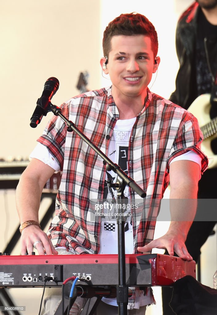 Charlie Puth performs on NBC's 'Today' at Rockefeller Plaza on June 30, 2017 in New York City.