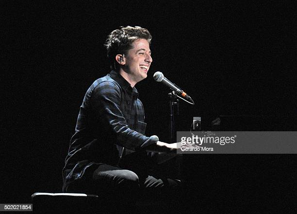 Charlie Puth performs onstage during 933 FLZ's Jingle Ball 2015 Presented by Capital One at Amalie Arena on December 19 2015 in Tampa Bay Fla