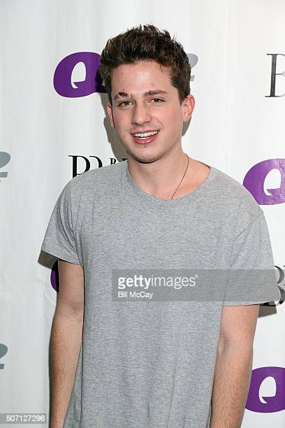Charlie Puth poses at Q102 Performance Theater January 27 2016 in Bala Cynwyd Pennsylvania