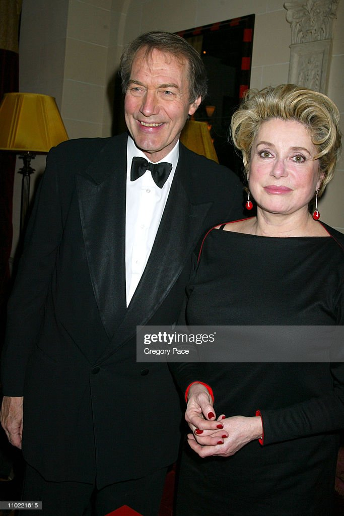 Charlie Rose and Catherine Deneuve during Catherine Deneuve and The French Institute Alliance Francaise Host 'La Nuit Des Etoiles' a French Film...