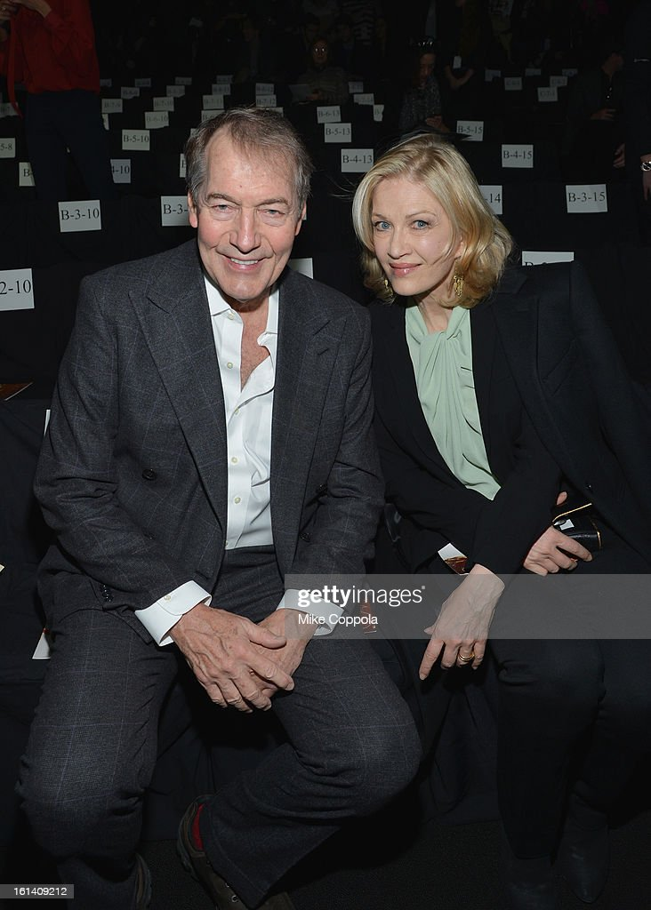 Charlie Rose and Diane Sawyer attend the Diane Von Furstenberg Fall 2013 fashion show during Mercedes-Benz Fashion at The Theatre at Lincoln Center on February 10, 2013 in New York City.