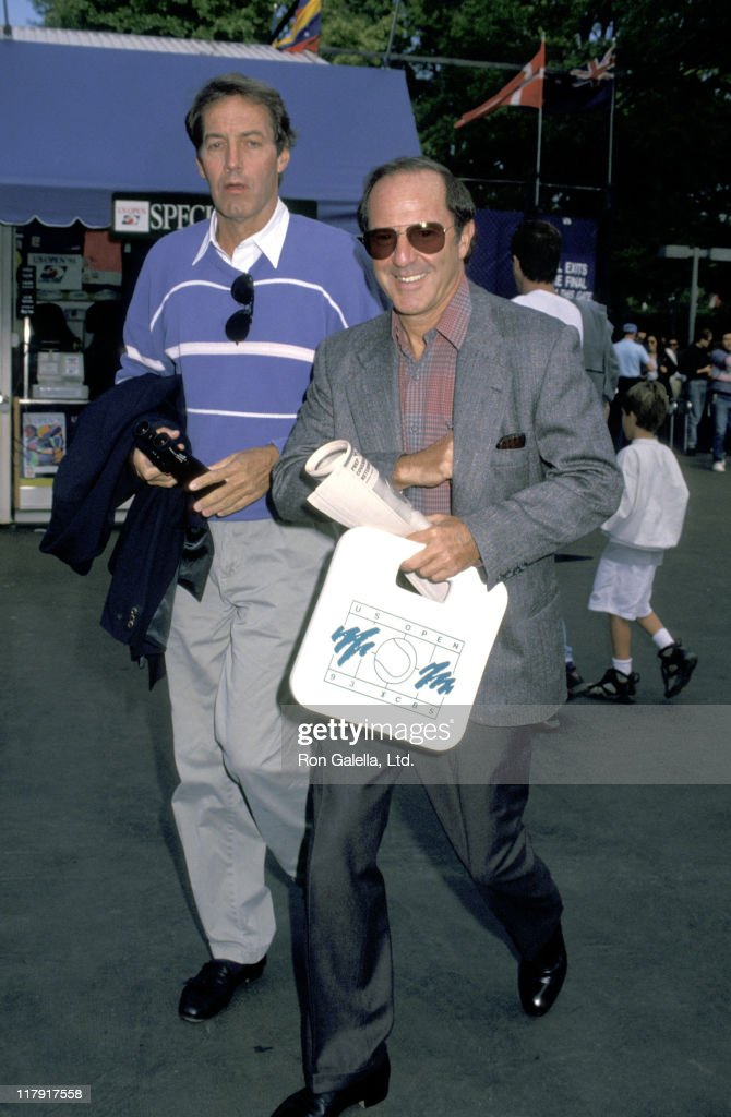 Charlie Rose and Mort Zuckerman during Charlie Rose and Mort Zuckerman at the US Open '93 Tennis Championships at Flushing Meadow Park in New York...