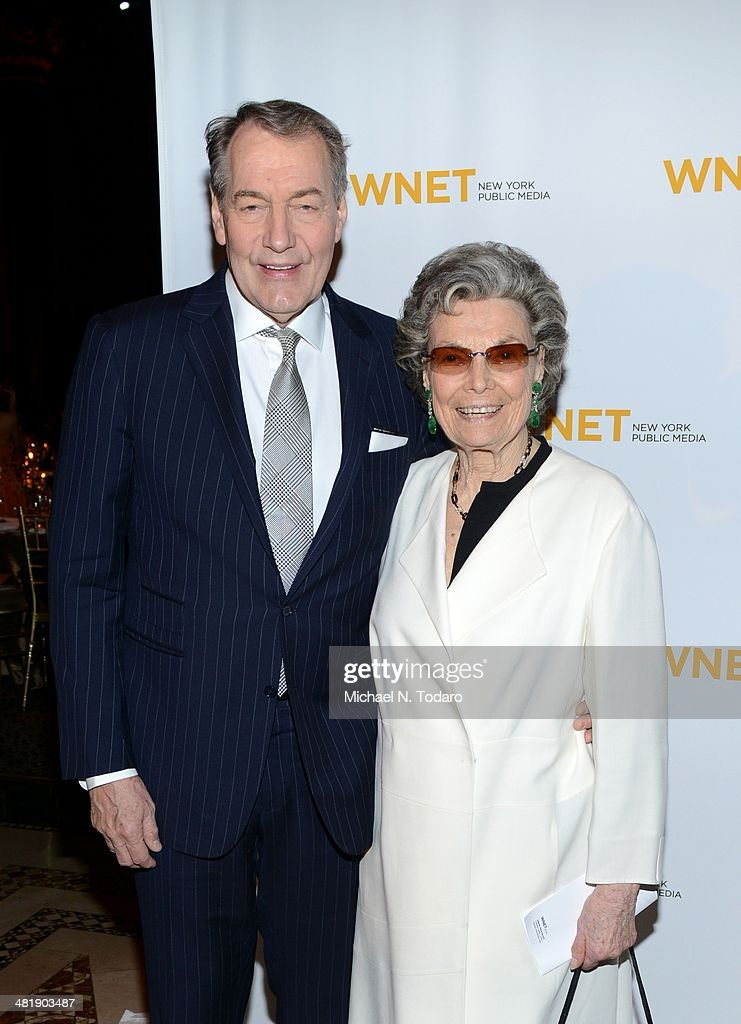 <a gi-track='captionPersonalityLinkClicked' href=/galleries/search?phrase=Charlie+Rose&family=editorial&specificpeople=535420 ng-click='$event.stopPropagation()'>Charlie Rose</a> and Rosalind P. Walter attend the WNET 2014 Gala at Cipriani 42nd Street on April 1, 2014 in New York City.