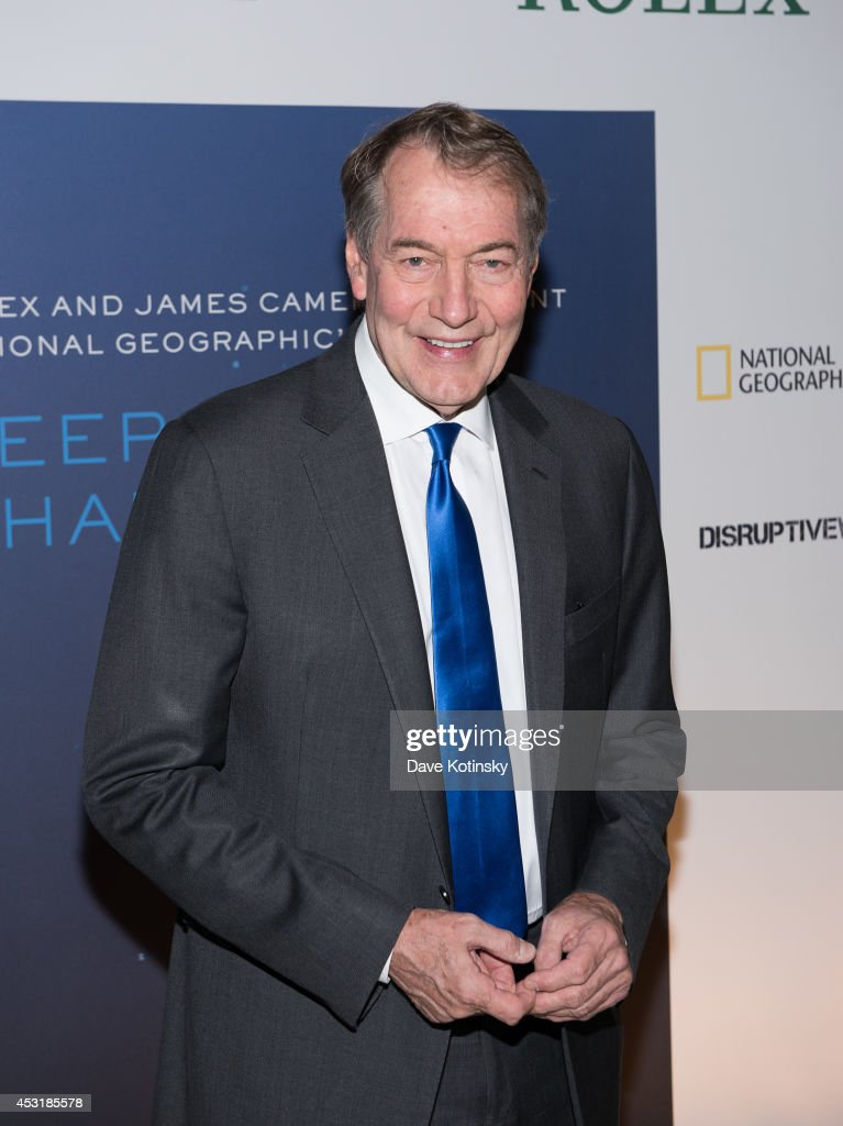<a gi-track='captionPersonalityLinkClicked' href=/galleries/search?phrase=Charlie+Rose&family=editorial&specificpeople=535420 ng-click='$event.stopPropagation()'>Charlie Rose</a> arrives at the 'Deepsea Challenge 3D' New York Premiere at the American Museum of Natural History on August 4, 2014 in New York City.
