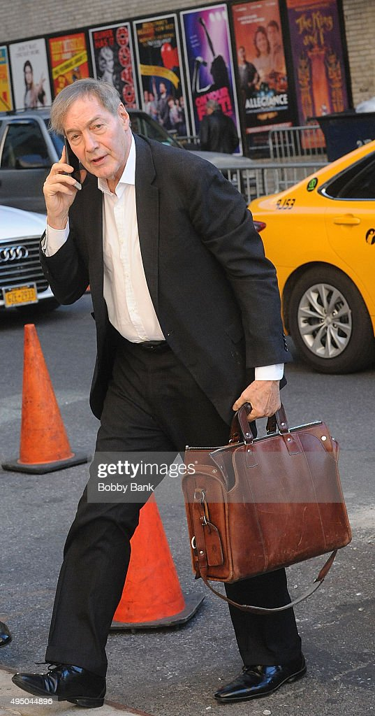 Charlie Rose arrives at The Late Show with Stephen Colbert on October 30 2015 in New York City