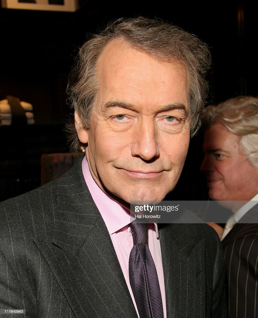 Charlie Rose during Cocktail Reception to Celebrate Ricky Lauren's Book 'Ricky Lauren Cuisine Lifestyle and Legend of the Double RL Ranch' at Ralph...