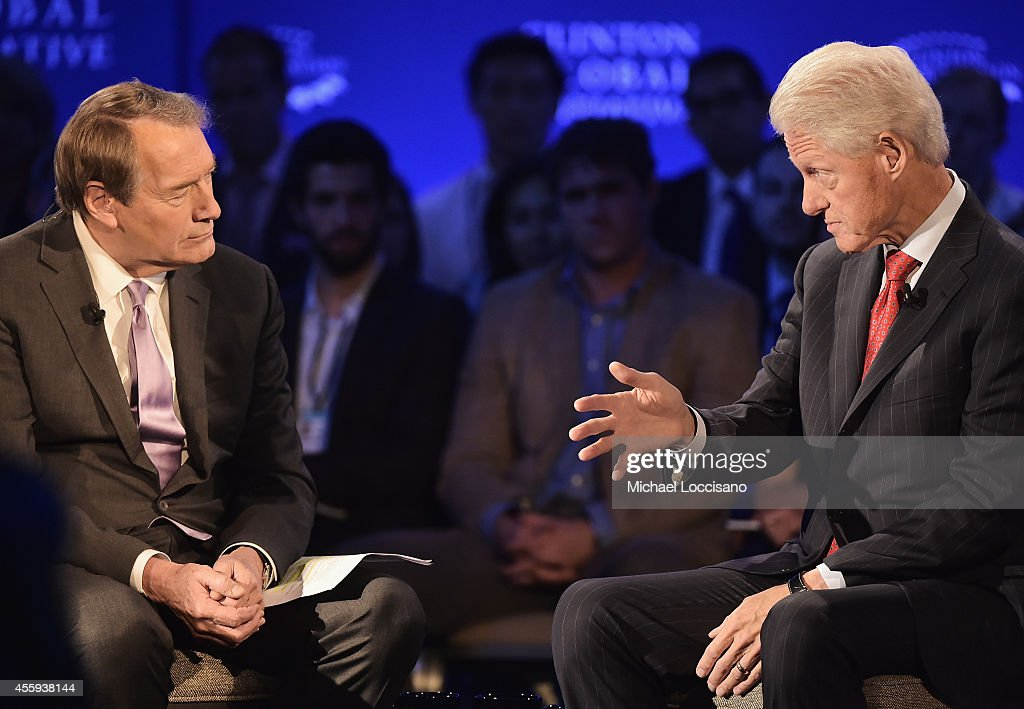 <a gi-track='captionPersonalityLinkClicked' href=/galleries/search?phrase=Charlie+Rose&family=editorial&specificpeople=535420 ng-click='$event.stopPropagation()'>Charlie Rose</a> interviews Former U.S. President <a gi-track='captionPersonalityLinkClicked' href=/galleries/search?phrase=Bill+Clinton&family=editorial&specificpeople=67203 ng-click='$event.stopPropagation()'>Bill Clinton</a> during the 'CGI Conversation Hosted by PBS's <a gi-track='captionPersonalityLinkClicked' href=/galleries/search?phrase=Charlie+Rose&family=editorial&specificpeople=535420 ng-click='$event.stopPropagation()'>Charlie Rose</a>' for the Clinton Global Initiative on September 22, 2014 at the Sheraton New York Hotel & Towers in New York City.