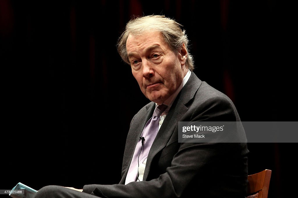 <a gi-track='captionPersonalityLinkClicked' href=/galleries/search?phrase=Charlie+Rose&family=editorial&specificpeople=535420 ng-click='$event.stopPropagation()'>Charlie Rose</a> interviews Henry Kissinger as they Mark The 70th Anniversary Of VE Day at Museum of Jewish Heritage on May 13, 2015 in New York City.
