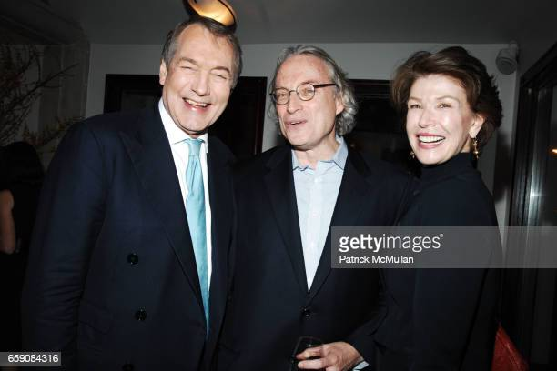 Charlie Rose Morgan Entrekin and Sara Colleton attend Book Party hosted by Anne Hearst McInerney Candace Bushnell Nicole Miller Celebrating 'HOW IT...