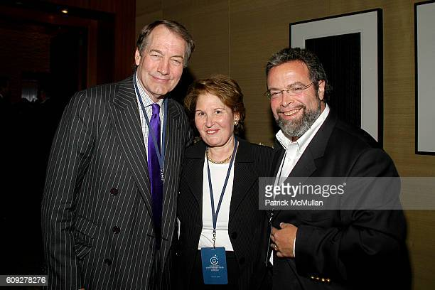 Charlie Rose Nina Zagat and Drew Nieporent attend CONVERSATIONS ON THE CIRCLE With Senator Barack Obama And Dick Parsons at Time Warner Headquarters...