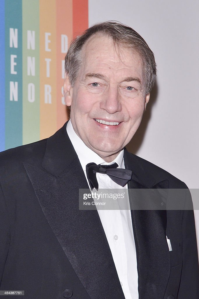 <a gi-track='captionPersonalityLinkClicked' href=/galleries/search?phrase=Charlie+Rose&family=editorial&specificpeople=535420 ng-click='$event.stopPropagation()'>Charlie Rose</a> poses on the red carpet during the The 36th Kennedy Center Honors gala at the Kennedy Center on December 8, 2013 in Washington, DC.