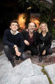 Charlie Rowe Neil Nightingale and Amanda Hill attend the UK Gala Screening of Walking With Dinosaurs 3D at Leicester Square on December 14 2013 in...