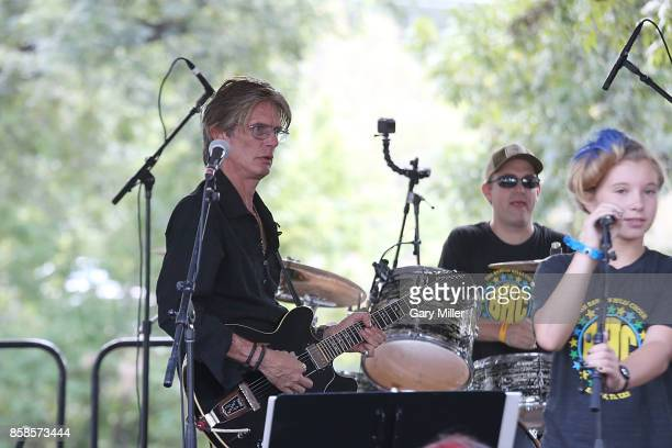 Charlie Sexton performs in concert with the Barton Hills Choiron the first day of week one of the Austin City Limits Music Festival at Zilker Park on...