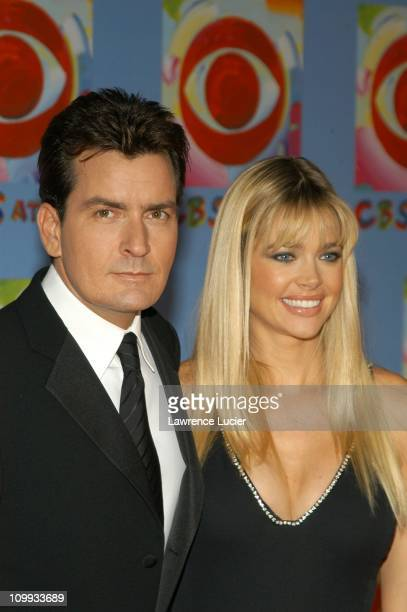 Charlie Sheen and Denise Richards during CBS at 75 Commemorating CBS'S 75th Anniversary Arrivals at The Hammerstein Theater in New York City New York...