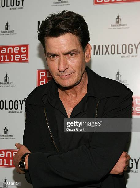 Charlie Sheen attends the Anger Management Wrap Party hosted by Charlie Sheen held at Planet Dailies Mixology 101 on May 3 2012 in Los Angeles...