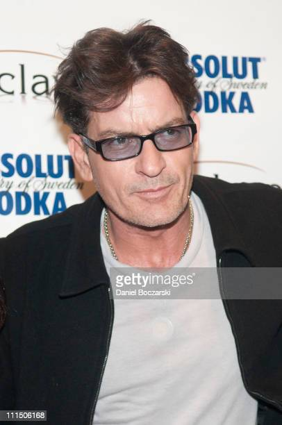 Charlie Sheen attends the Charlie Sheen My Violent Torpedo Of Truth Tour Official After Party at Enclave on April 3 2011 in Chicago Illinois