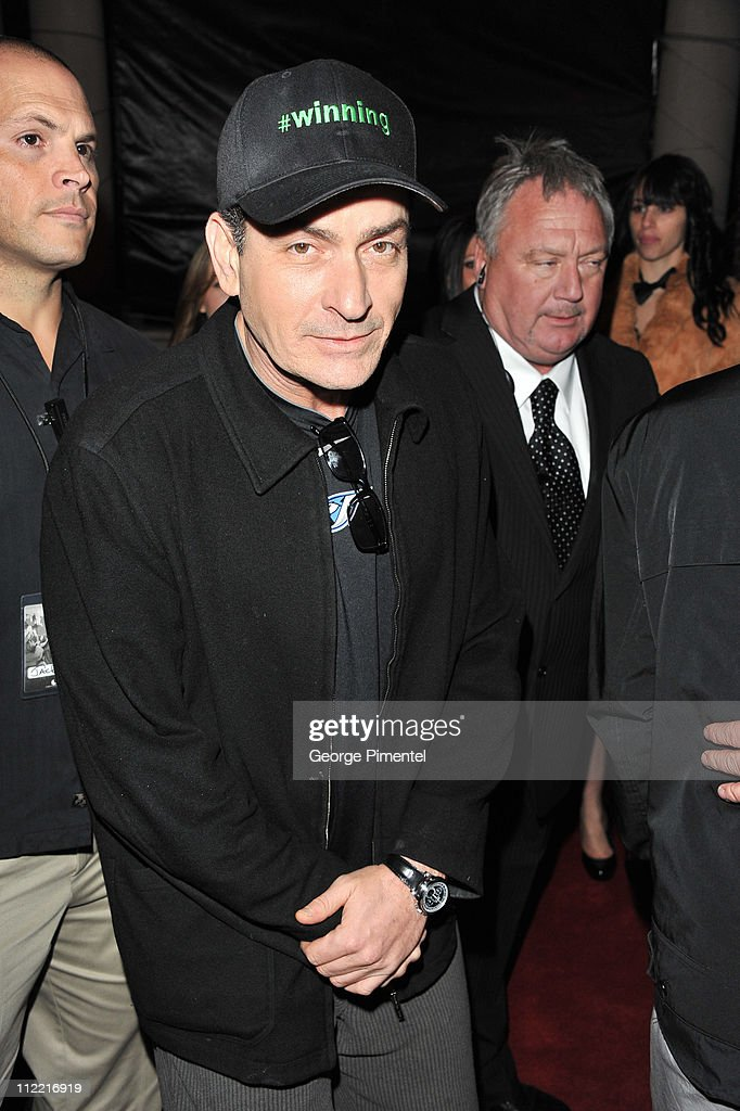 <a gi-track='captionPersonalityLinkClicked' href=/galleries/search?phrase=Charlie+Sheen&family=editorial&specificpeople=206152 ng-click='$event.stopPropagation()'>Charlie Sheen</a> attends the official after-party for his 'Torpedo of Truth' tour at Muzik on April 14, 2011 in Toronto, Canada.