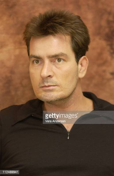 Charlie Sheen during 'Two and a Half Men' Press Conference with Charlie Sheen and Jon Cryer at Four Seasons Hotel in Beverly Hills California United...