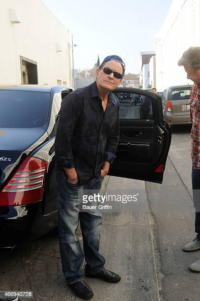 Charlie Sheen is seen on March 19 2015 in Los Angeles California