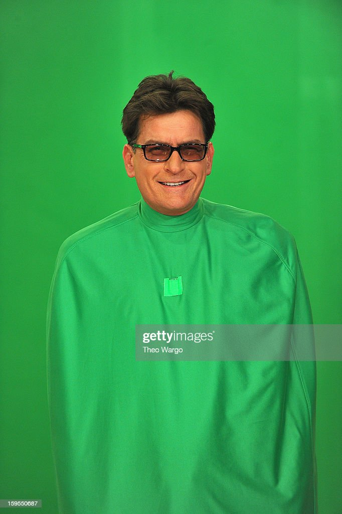 <a gi-track='captionPersonalityLinkClicked' href=/galleries/search?phrase=Charlie+Sheen&family=editorial&specificpeople=206152 ng-click='$event.stopPropagation()'>Charlie Sheen</a> visits 'Late Night With Jimmy Fallon' at Rockefeller Center on January 15, 2013 in New York City.