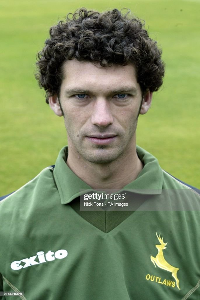 Charlie Shreck of Nottinghamshire County Cricket Club during a photocall at Trent Bridge, ahead of the new 2004 season.